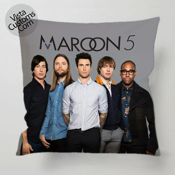 Maroon Five Band pillow case, cover ( 1 or 2 Side Print With Size 16, 18, 20, 26, 30, 36 inch )