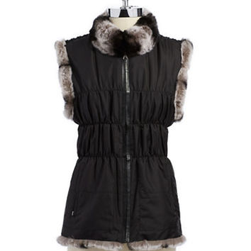 Linda Richards Reversible Rabbit Fur Vest