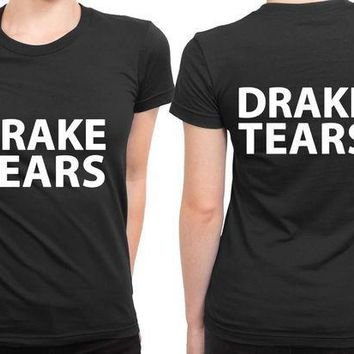 ESBP7V Drake Tears Classic 2 Sided Womens T Shirt
