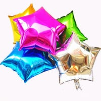 5 pcs/lot 10 inch Helium Balloon star Wedding Large aluminum Foil Balloons Inflatable gift Birthday baloon Party Decoration Ball