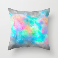 The Soul Becomes Dyed With the Colors of it's Thoughts (Galactic Watercolors) Throw Pillow by Soaring Anchor Designs ⚓