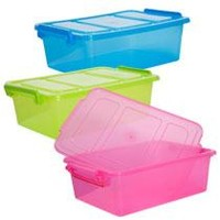 Bulk Translucent Plastic Storage Boxes with Clip-Lock Lids at DollarTree.com