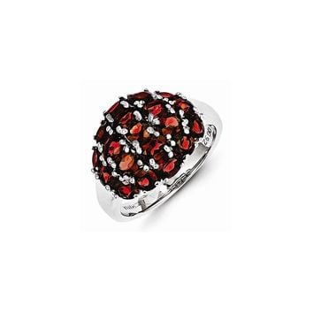 Sterling Silver Brazilian Garnet Ring
