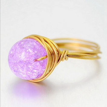 Fashion Jelly crystal ring