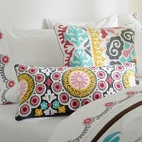 Suzani Pillow Cover, Warm