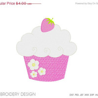 30% OFF SALE Cupcake Embroidery design instant download, machine embroidery, many size, many formats PGEMPK143