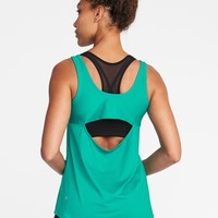 Go-Dry Cutout-Back Tank for Women   Old Navy