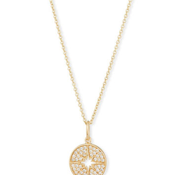 Sydney Evan Anniversary Small Starburst Medallion Necklace with Diamonds