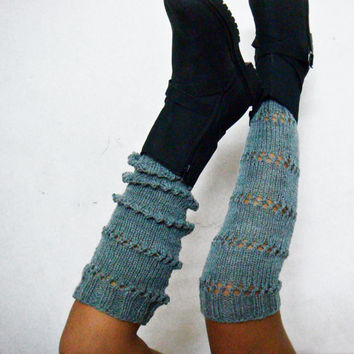 PDF Knitting Pattern Extra Long Legwarmers Spats Boot Cuffs