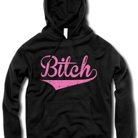 """Women's """"The Bitch"""" Hoodie by The T-Shirt Whore (Black)"""