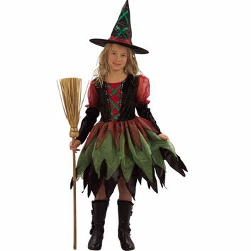 Little Witch Cosplay Costume Naughty Baby Girl Party Costume Fantasia Infantil Children Fancy Dress Halloween Costume for Kids