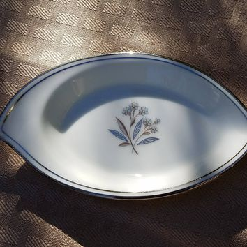 Small Ashtray in Bessie by Noritake Fine China, Vintage Noritake, 1950s China Antique Noritake, Old Noritake Patterns