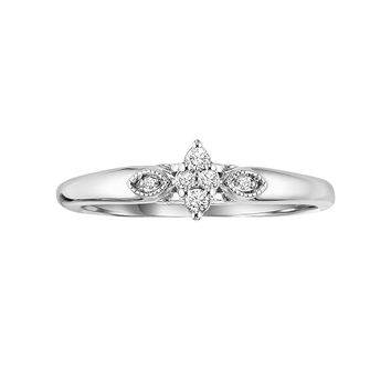 Cherish Always 10k White Gold Diamond Accent Ring