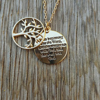 Tree of Life Bible Verse Necklace