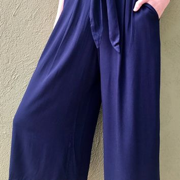 Pretty In Palazzo Pants - Navy