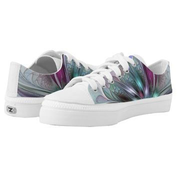 Colorful Fantasy, abstract and modern Fractal Art Printed Shoes