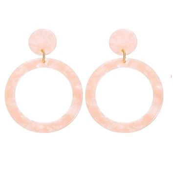 Drop Hoop Earring Blush