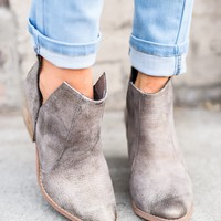 Waco Snakeskin Booties (Grey)