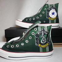 Harry Potter Slytherin Custom Converse All Stars