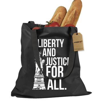 Liberty And Justice For All Shopping Tote Bag