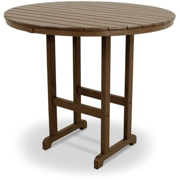 "Trex Outdoor Furniture   Monterey Bay Round 48"" Bar Table"
