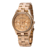 Marc by Marc Jacobs MBM3118 Women's Henry Rose Gold Tone Crystal Chronograph Watch