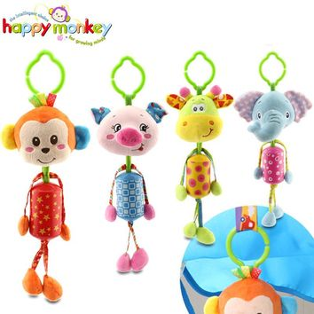 Wind Chimes Baby Toy 0-12 Month Infant Stroller Hanging Cot Crib Mobile Rattle Educational Dolls For Children Newborn Babies Kid