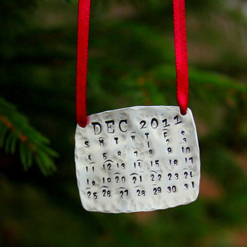 Christmas Decorations Personalized Calendar by whiteliliedesigns