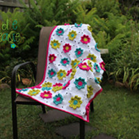 Spring Fling Blanket pattern by April Bennett with Cuddle Me Beanies