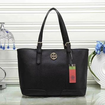 Tory Burch Women Leather Shoulder Bag Satchel Tote Handbag