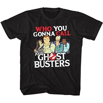 The Real Ghostbusters TV Series Call Em Black Toddler Little Boys T-Shirt Tee