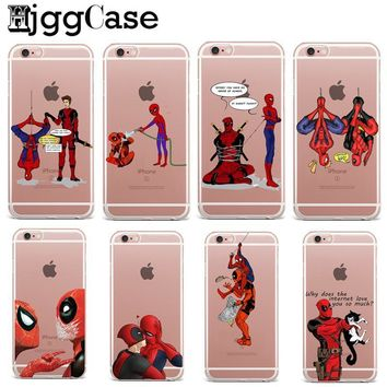 Deadpool Dead pool Taco Funny Spiderman   Marvel TPU Cases For Funda iPhone X Case SE 5S 6 6S 7 8 Plus Case Soft Silicone Protective Cover AT_70_6