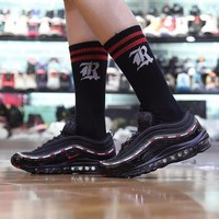 Best Online Sale Undefeated x Nike Air Max 97 OG Sail Retro UNDEFEATED Sport Shoes Black Green Red Running Shoes - AJ1986-100