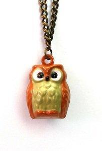 tessies ? Owl Bell Necklace