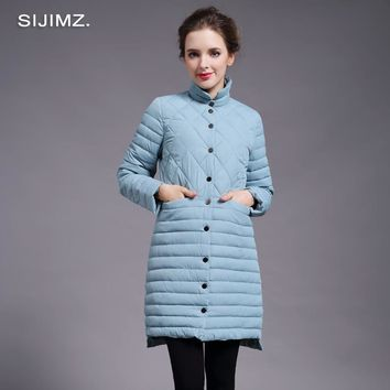 SIJIMZNew Arrival 2017 Spring Jacket Women Fashion Womens Winter Coat Slim Long Sleeve Cotton Coats And Jackets