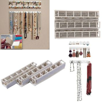 Jewelry Display Necklace Earring Bracelet Organizer Display Stand Rack Holder Wall Hanger For Jewellery #85914