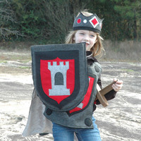 Knight Shield RED and BLACK - Halloween Costume - Halloween Costume - Kid Costume