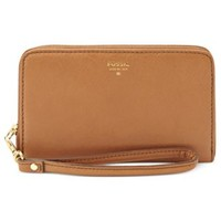 Fossil Sydney Leather Zip Phone Wristlet | macys.com