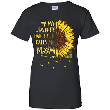 Sunflower My Favorite Hair Stylist Calls Me Mom Mothers Day Gift