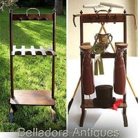 Late Georgian Equestrian Boot Rack - Mahogany c1810 from belladora on Ruby Lane
