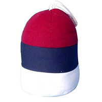 Nautical Buoy Doorstop for Beach Homes and Coastal Decor - 9-in (Red/White/Blue)