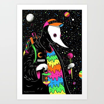 Space Plague Wizard Art Print by Burdco