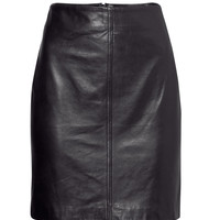 H&M - Leather Skirt