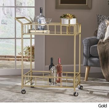 Varadero Outdoor Industrial Bar Cart by Christopher Knight Home | Overstock.com Shopping - The Best Deals on Coffee & Side Tables