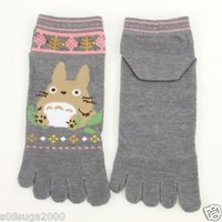 Totoro 5 Finger Socks Studio Ghibli from JAPAN