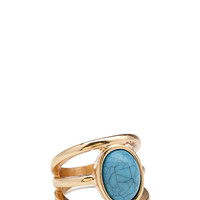 FOREVER 21 Faux Stone Midi Ring