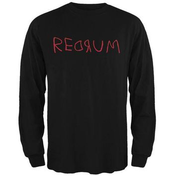 ICIKIS3 Halloween Horror Redrum Black Adult Long Sleeve T-Shirt