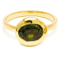 Natasha Collis 18k Gold And Green Sapphire Nugget Ring - Browns - Farfetch.com
