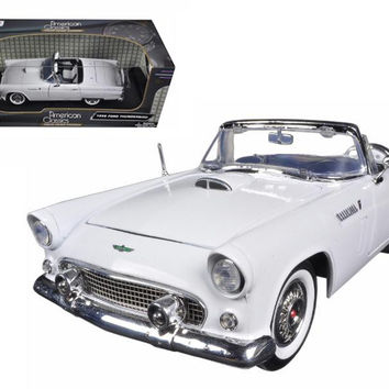 1956 Ford Thunderbird Convertible White 1-18 Diecast Model Car by Motormax