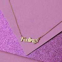 Feelings Nameplate Necklace
